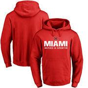 Miami University RedHawks Custom Sport Pullover Hoodie - Red