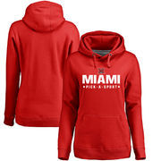 Miami University RedHawks Women's Custom Sport Pullover Hoodie - Red
