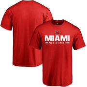 Miami University RedHawks Custom Sport T-shirt - Red