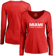 Miami University RedHawks Women's Custom Sport Long Sleeve T-Shirt - Red