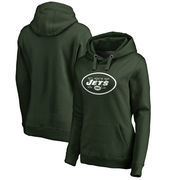 New York Jets NFL Pro Line Women's Primary Logo Plus Size Pullover Hoodie - Green