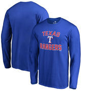 Texas Rangers Victory Arch Big & Tall Long Sleeve T-Shirt - Royal