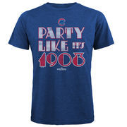 Chicago Cubs Majestic Threads 2016 World Series Champions Vintage Party T-Shirt - Royal