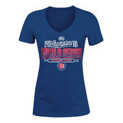 Chicago Cubs 5th & Ocean by New Era Women's 2016 World Series Champions Baby Jersey T-Shirt - Royal
