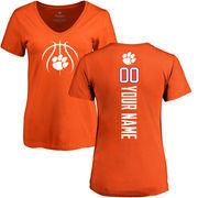 Clemson Tigers Women's Basketball Personalized Backer T-Shirt - Orange
