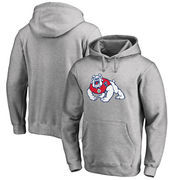 Fresno State Bulldogs Fanatics Branded Big & Tall Primary Team Logo Pullover Hoodie - Heathered Gray