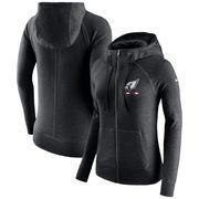 Arizona Cardinals Nike Women's Gym Vintage Full-Zip Hoodie - Black