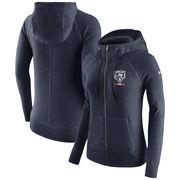 Chicago Bears Nike Women's Gym Vintage Full-Zip Hoodie - Navy