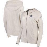 Dallas Cowboys Nike Women's Gym Vintage Full-Zip Hoodie - Heathered Gray