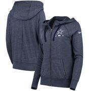 Dallas Cowboys Nike Women's Gym Vintage Full-Zip Hoodie - Navy