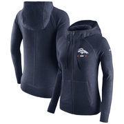 Denver Broncos Nike Women's Gym Vintage Full-Zip Hoodie - Navy