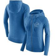 Detroit Lions Nike Women's Gym Vintage Full-Zip Hoodie - Blue