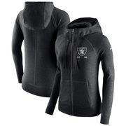 Oakland Raiders Nike Women's Gym Vintage Full-Zip Hoodie - Black