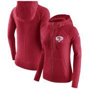 San Francisco 49ers Nike Women's Gym Vintage Full-Zip Hoodie - Scarlet