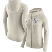 Air Force Falcons Nike Women's Gym Vintage Full-Zip Hoodie - Cream