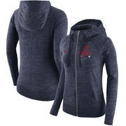 Arizona Wildcats Nike Women's Gym Vintage Full-Zip Hoodie - Heathered Navy