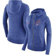 Boise State Broncos Nike Women's Gym Vintage Full-Zip Hoodie - Heathered Royal