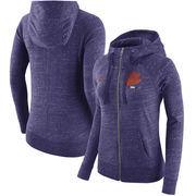 Clemson Tigers Nike Women's Gym Vintage Full-Zip Hoodie - Heathered Purple