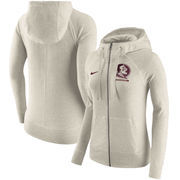 Florida State Seminoles Nike Women's Gym Vintage Full-Zip Hoodie - Cream