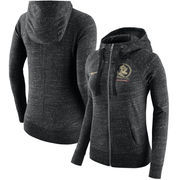 Florida State Seminoles Nike Women's Gym Vintage Full-Zip Hoodie - Heathered Black