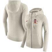 Iowa State Cyclones Nike Women's Gym Vintage Full-Zip Hoodie - Cream