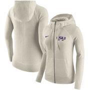 LSU Tigers Nike Women's Gym Vintage Full-Zip Hoodie - Cream