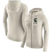 Michigan State Spartans Nike Women's Gym Vintage Full-Zip Hoodie - Cream