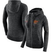 Oklahoma State Cowboys Nike Women's Gym Vintage Full-Zip Hoodie - Heathered Black