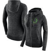 Oregon Ducks Nike Women's Gym Vintage Full-Zip Hoodie - Heathered Black