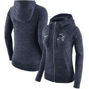Penn State Nittany Lions Nike Women's Gym Vintage Full-Zip Hoodie - Heathered Navy