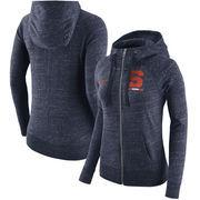 Syracuse Orange Nike Women's Gym Vintage Full-Zip Hoodie - Heathered Navy