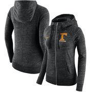 Tennessee Volunteers Nike Women's Gym Vintage Full-Zip Hoodie - Heathered Black