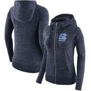 North Carolina Tar Heels Nike Women's Gym Vintage Full-Zip Hoodie - Heathered Navy