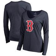 Boston Red Sox Fanatics Branded Women's Primary Logo Long Sleeve T-Shirt - Navy
