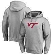 Virginia Tech Hokies Fanatics Branded Primary Team Logo Pullover Hoodie - Ash