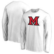 Miami University RedHawks Fanatics Branded Primary Logo Long Sleeve T-Shirt - White
