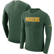 Green Bay Packers Nike Marled Wordmark Long Sleeve T-Shirt - Green