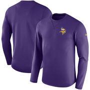 Minnesota Vikings Nike Sideline Modern Long Sleeve Sweatshirt - Purple