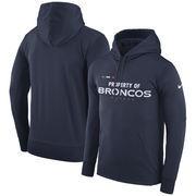 Denver Broncos Nike Sideline Property Of Performance Pullover Hoodie - Navy