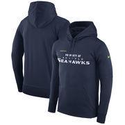 Seattle Seahawks Nike Sideline Property Of Performance Pullover Hoodie - Navy