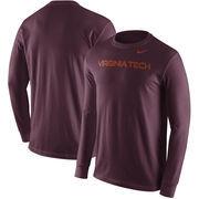 Virginia Tech Hokies Nike Wordmark Long Sleeve T-Shirt - Maroon