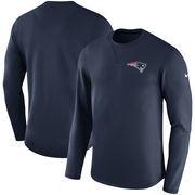 New England Patriots Nike Sideline Modern Long Sleeve Sweatshirt - Navy
