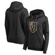 Vegas Golden Knights Fanatics Branded Women's Plus Sizes Primary Logo Pullover Hoodie - Black