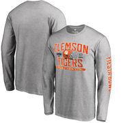 Clemson Tigers Fanatics Branded College Football Playoff 2016 Fiesta Bowl Bound Playbook Long Sleeve T-Shirt - Heather Gray