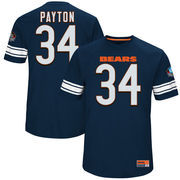 Walter Payton Chicago Bears Majestic Hall of Fame Hash Mark Player Name & Number T-Shirt - Navy
