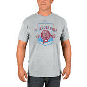 Philadelphia Phillies Majestic Vintage Style T-Shirt - Gray