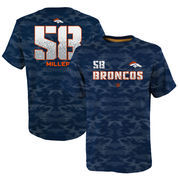 Von Miller Denver Broncos Youth Vector Camo Dri-Tek Name & Number T-Shirt - Navy