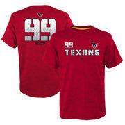 J.J. Watt Houston Texans Youth Vector Camo Dri-Tek Name & Number T-Shirt - Red