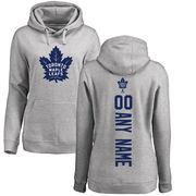 Toronto Maple Leafs Fanatics Branded Women's Personalized Backer Pullover Hoodie - Ash
