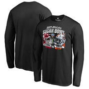 Oklahoma Sooners vs. Auburn Tigers Fanatics Branded 2017 Sugar Bowl Dueling Long Sleeve T-Shirt - Black